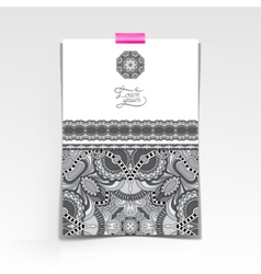 Grey decorative sheet of paper with oriental vector