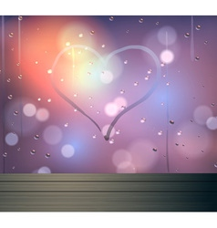 Heart and bokeh on mirror abstract backgrou vector