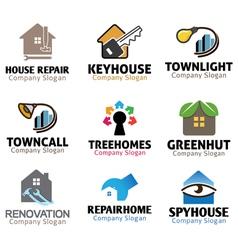 Housing Logos Compilation vector image