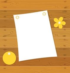 Note book on a wooden desk vector