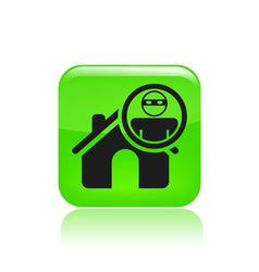 Thief apartments icon vector