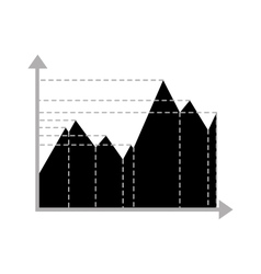 Business data graph chart analytics vector