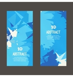 Set of polygonal and triangular geometric banners vector