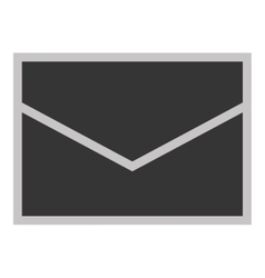 Grey envelope icon vector