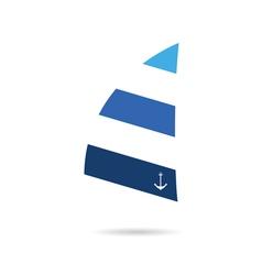 Sail icon blue vector