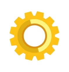 Gear icon machine part design graphic vector