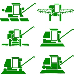 agricultural vehicles vector image