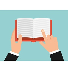 book reader vector image