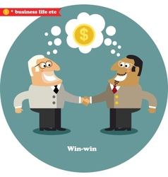 Business handshake big deal vector