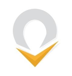 Check mark and map point logo ok logo vector