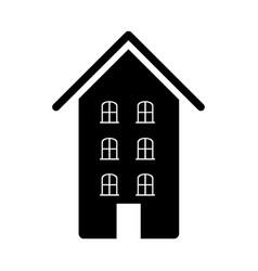 Contour hotel house image vector