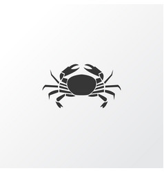 crab icon symbol premium quality isolated cancer vector image