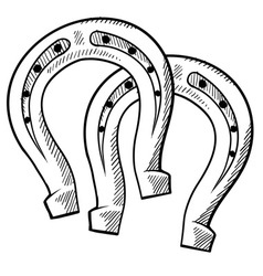 Doodle horseshoes vector