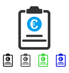 Euro prices pad flat icon vector