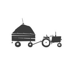 Fun tractor icon vector