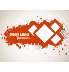 Grunge banners with squares vector image