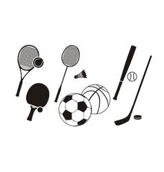 Hockey stick racket tennis baseball badminton vector