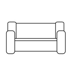 home couch isolated icon vector image vector image