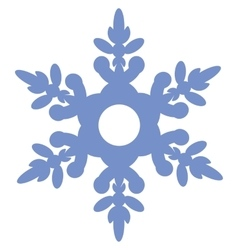Isolated snowflake 02 vector image