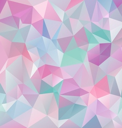 Pastel blue pink abstract polygon triangular vector