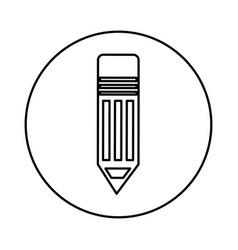 Pencil silhouette isolated icon vector