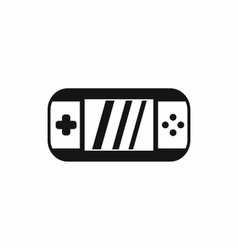 Portable video game console icon simple style vector image