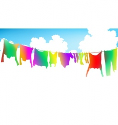 rainbow clothes vector image