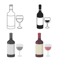 red wine icon in cartoon style isolated on white vector image vector image