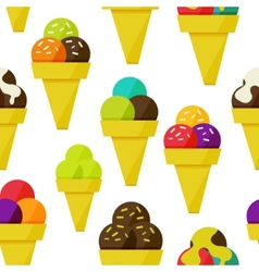 Seamless background with ice-cream vector image