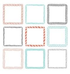 Set of 9 decorative square border frames vector image vector image