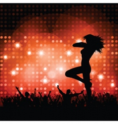 sexy female with crowd vector image vector image