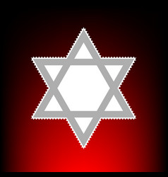 Shield magen david star symbol of israel postage vector