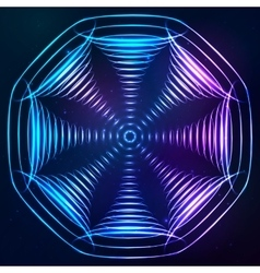 sound cones at cosmic background vector image
