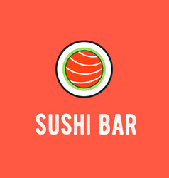Sushi bar logo vector