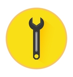Technical service solutions wrench emblem vector