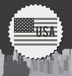 United states and new york design vector