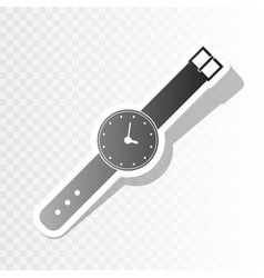 Watch sign new year blackish vector