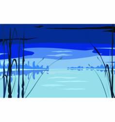 water scene vector image vector image
