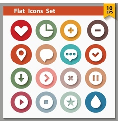 Web and interface icons collection vector