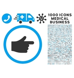 Index pointer icon with 1000 medical business vector