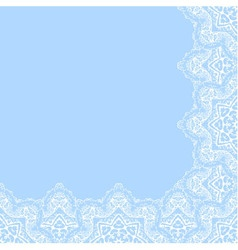 Decorative corner border vector