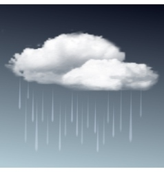 Raincloud and rain in the dark sky vector
