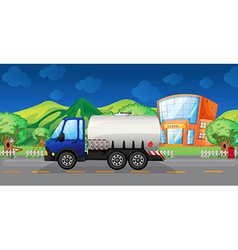 Cartoon oil truck vector