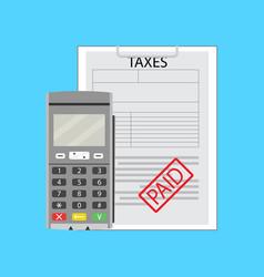 Taxation earning flat vector