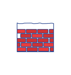 construction brick isolated vector image