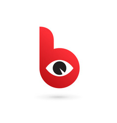Letter b eye logo icon design template elements vector