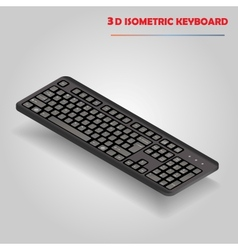Black 3d computer keyboard vector