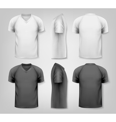 V-neck t-shirts with sample text space vector
