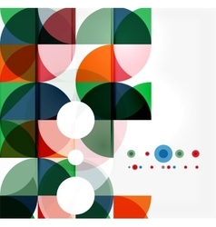 Semicircle triangle pattern vector