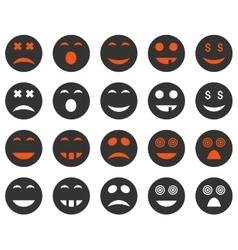 Smile and emotion icons vector